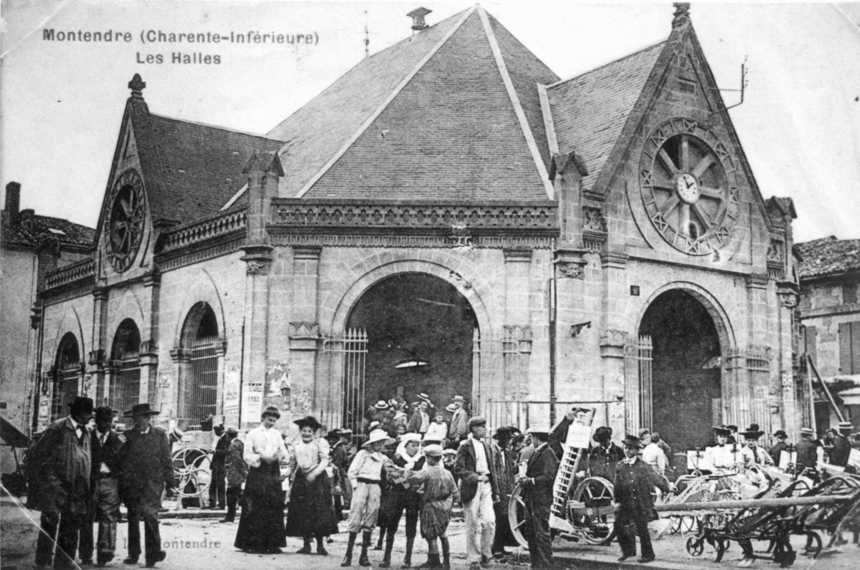 les Halles de Montendre autrefois